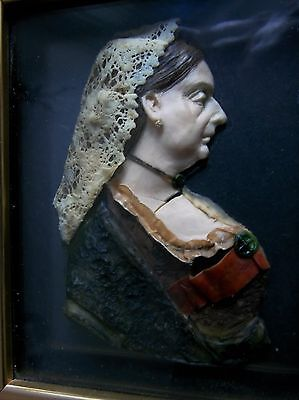 wax relief Miniature picture queen victoria framed leslie ray english art frame