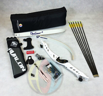 "White 66"" Core Archery Pro Take Down Recurve Bow & Complete Package"