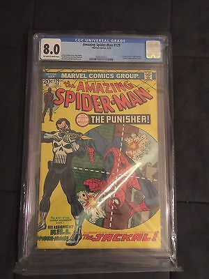 Amazing Spider-Man # 129 1st Appearance Punisher CGC Certified 8.0 Super rare