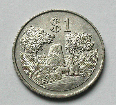 1980 ZIMBABWE Coin - One Dollar ($1) - pre-inflationary issue