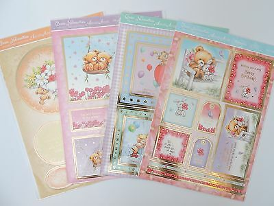 """Hunkydory """"Bear Necessities"""" Card Kit with FREE Adorable Scorable Foiled Card"""