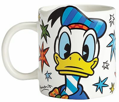 Disney by Romero Britto Donald Duck Ceramic Mug 9cm 295ml 4057047 Boxed New