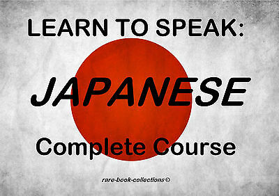 Learn To Speak Japanese - Language Course - 10 Hrs Audio Mp3 & 4 Books On Dvd