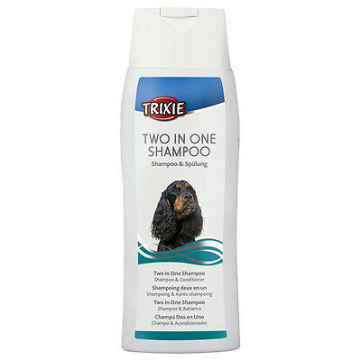 Trixie Hunde Two in One Shampoo 250 ml, UVP 3,49 EUR, NEU