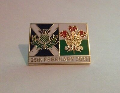 Scotland Vs Wales Rugby Badge 2017
