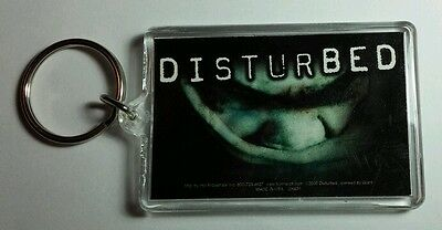 As-Is Disturbed Face Blue Name Group Band Music Key Chain Keychain