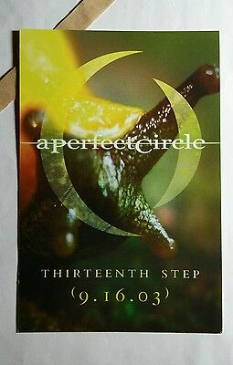 A PERFECT CIRCLE THIRTEENTH STEP TOUR 4x6 MUSIC PROMO POSTER FLYER POSTCARD