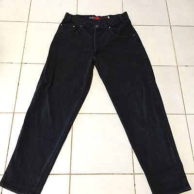 Mens Vintage Levis SilverTab Loose Black Jeans sz. 34 x 30  Made in USA