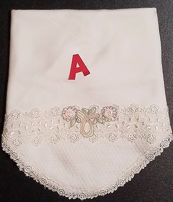 BABY BEAU & BELLE Gorgeous Baby Girl Crib/Receiving Blankets  Lovely Trims