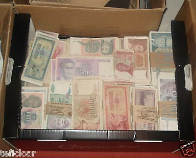EX-BALKAN YUGOSNAVIA INFLATION DIN. 1965-1994 .G. - MIX used 100 BANKNOTE