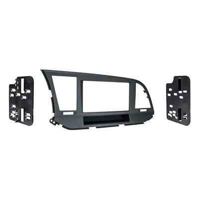 Metra 95-7376B Matte Black Double DIN Dash Kit for Select 17-up Hyundai Elantra
