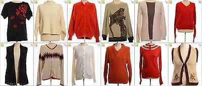 "JOB LOT OF 14 VINTAGE WOMEN""S KNITS- Mix of Era's, styles and sizes (21343)*"
