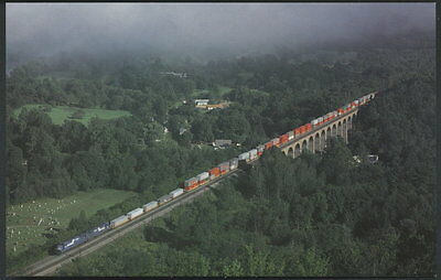 Consolidated Rail Corporation Conrail Train Postcard TV203 Starrucca Viaduct
