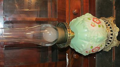 Gone With The Wind Lion Lamp Shade - hand painted roses GWTW Green base only
