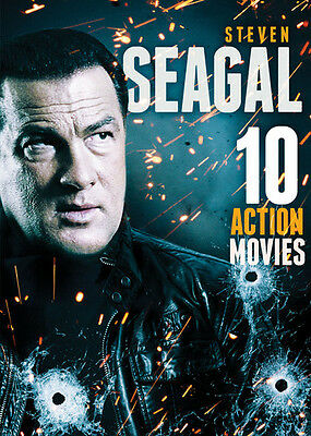 10-Film Action Featuring Steven Seagal - 2 DISC SET (2017, DVD NUOVO (REGIONE 1)