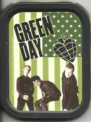 GREEN DAY flag 2004 oblong MINI STASH TIN usa IMPORT official - no longer made