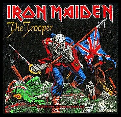 IRON MAIDEN the trooper 2011 - WOVEN SEW ON PATCH official merchandise (sealed)