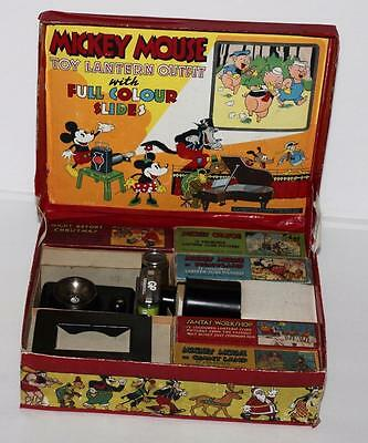 """RARE""""COMPLETE""""BOXED SET:DISNEY1930's""""MICKEY MOUSE""""MAGIC  LANTERN""""BY ENSIGN+MORE"""