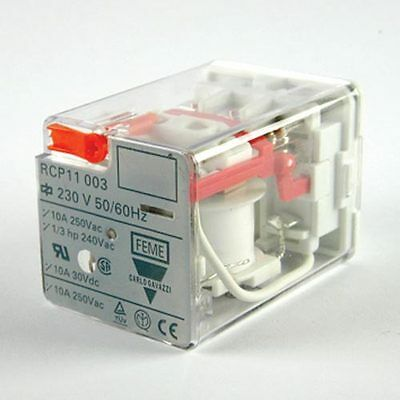 Carlo Gavazzi 3PDT Socket Mount Non-Latching Octal Relay Plug In, 10 A, 24V ac