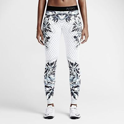 2015NIKE WOMEN PRO FLORAL TRAINING TIGHTS 799488-100 tight of the moment
