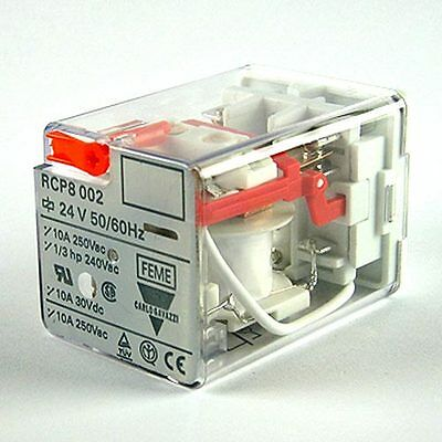 Carlo Gavazzi DPDT Socket Mount Non-Latching Octal Relay Plug In, 10 A, 24V DC