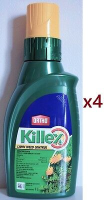 4 Ortho Killex Lawn Weed Control Concentrate 1L Liquid Herbicide Killer Solution
