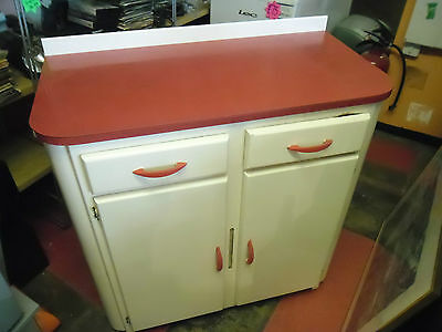 1950's kitchen unit red and white