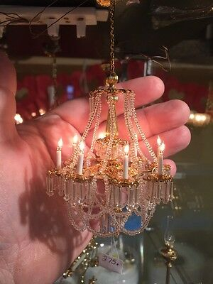 Dollhouse Miniatures ~ Gorgeous J. Getzan Versailles 8 Light Chandelier