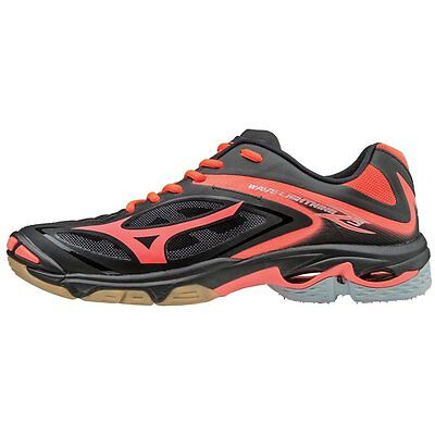 Mizuno Wave Lightning Z3 Women's Volleyball Shoes - Black & Fiery Coral - 430228