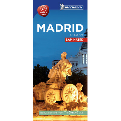 Madrid Street Map - New - City Map - Michelin - 2016 - Laminated