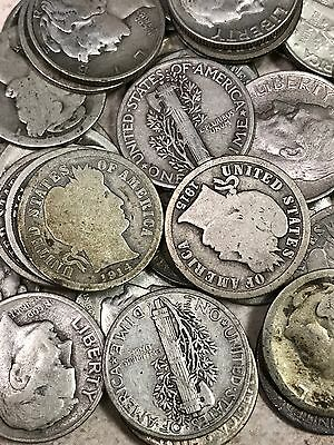 Antique Coin Collection of Barber, Mercury, & 90% Silver Roosevelt .10c