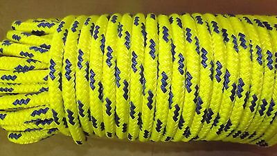 """NEW 7/16"""" x 65'  Floating Dinghy Tow Rope, Safety Line, Boat Rope"""