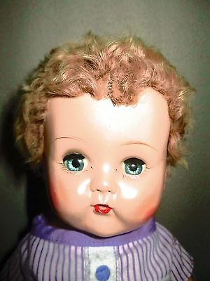 Vintage Betsy Wetsy Doll Caracul Curly Hair 1950's Ideal Full Lashes