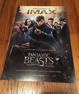Fantastic Beasts and Where to Find Them - IMAX POSTER - 13 x 9 - RARE!!  MINT!!