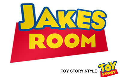 Disney Toy Story Door Wall Sticker with Personalised Name Art Decal Woody Buzz