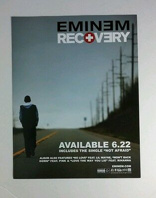 EMINEM RECOVERY WALKING DOWN STREET 2010 FLYER MUSIC 8.5x11 POSTER