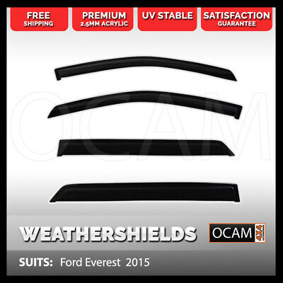 Weather Shield Window Visors for Ford Everest  2015 Onwards Weathershield