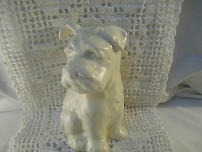 Antique Beswick Terrier Dog with One Ear Up The other Down