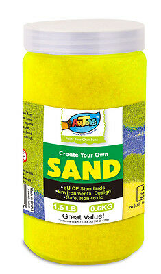 Yellow Colour Art Sand 600g Bottle Great for School & Home & Party Craft Sand