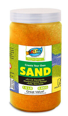 Orange Colour Art Sand 600g Bottle Great for School & Home & Party Craft Sand