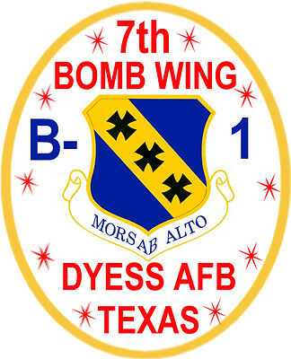 Usaf Patch, 7Th Bomb Wing, Dyess Afb Tx, B-1 Bomber