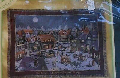 Dickens Village Dept 56 Triple Woven Throw/Tapestry Goodwin Weavers 100% Cotton