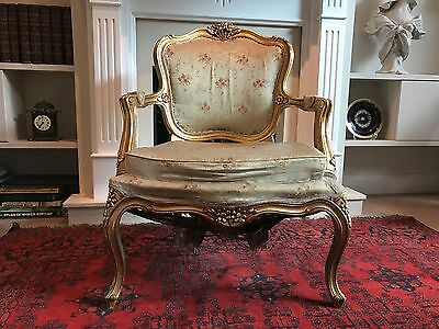 French Louis XV Vintage Arm Chair