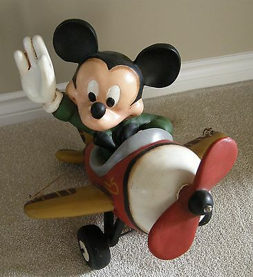 """BIG FIG Mickey Mouse in Airplane, 19"""" Long"""