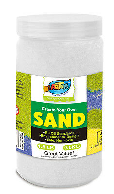 White Colour Art Sand 600g Bottle Great for School & Home & Party Craft Sand Art