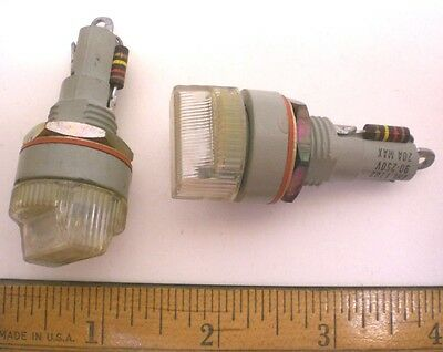 2 Indicating Fuseholders Neon Military Sealed Littelfuse for 3AG Fuse Lot 13 USA