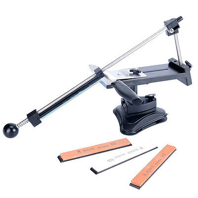 Kitchen Sharpening Knife Sharpener System Fix Angle with 4 Stones