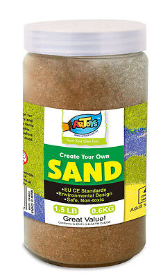 Brown Colour Art Sand 600g Bottle Great for School & Home & Party Craft Sand Art