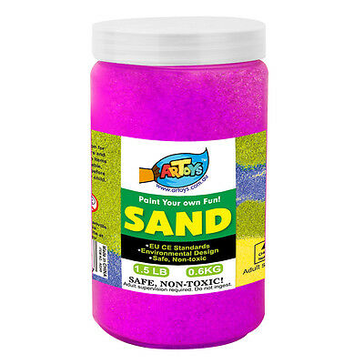 Purplish Red Colour Art Sand 600g Bottle Great for School & Home & Party Craft