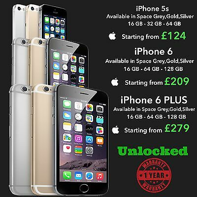 iPhone 6  iPhone 6 PLUS  16gb 64gb 128gb Space Grey Silver Gold Unlocked